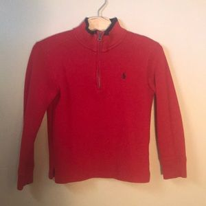 Boys polo pullover sweater size 5